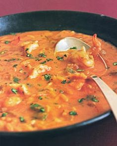Brazilian Shrimp Soup - To make low carb replace the rice with cauliflower rice.