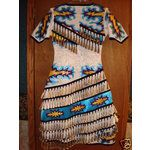native+American+beaded+dresses | eBay Image 1 White Dove Creations/ Jingle Dress/NEW/ womens size 10