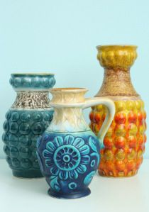 collection of 1960s Bay vases WGP
