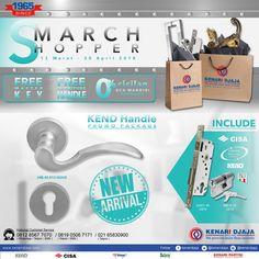 """Segera Nikmati Promo Istimewa dari Kenari Djaja """"Smarch Shopper"""" Berlangsung dari 12 Maret - 30 April 2018.... Dapatkan Paket Handle Set Dengan Harga Promo yang Menarik... Ayo Kunjungi Showroom Terdekat Kami  Informasi Hub. : Ibu Tika 0812 8567 7070 ( WA / Telpon / SMS )  Email : digitalmarketing@kenaridjaja.co.id  [ K E N A R I D J A J A ] PELOPOR PERLENGKAPAN PINTU DAN JENDELA SEJAK TAHUN 1965"""