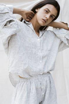 the 03 sleepwear set in pinstripe