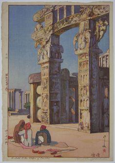 A Gate to the Stupa of Sanchi. 1932. Hiroshi Yoshida