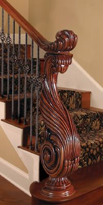 hand carved staircases | Use of easings require a carpenter/craftsman for installation. Easings ...
