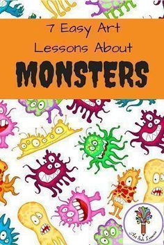 These 7 elementary art lesson plans about monsters are suitable to be taught by subs, classroom teachers or art teachers. Kids will have fun doing these. 7 Easy Elementary Art Lessons About Monsters Elementary Art Lesson Plans, Elementary Art Rooms, Art Therapy Children, Art Children, Art Sub Plans, First Grade Art, October Art, November, Kindergarten Art Projects
