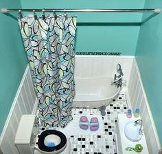 "American Girl or 18"" Doll BATHTUB and Toilet Vanity Sink Unit  #AmericanGirl"