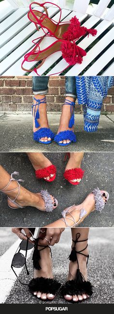 Do you want to know what your favorite fashion bloggers are all obsessed with? We're seeing these bright colored Aquazzura heels all over our feeds – and we totally get it!