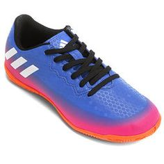 Chuteira Futsal Juvenil Adidas Nemeziz Messi 19 4 IN Azul