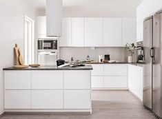 Kosketus OIV10M valk haa tan 0077 rgb72 Open Plan Kitchen Dining Living, Tidy Kitchen, Home Decor Kitchen, Interior Design Kitchen, New Kitchen, Home Kitchens, Minimalist Home Interior, Minimalist Kitchen, Mid Century Modern Kitchen