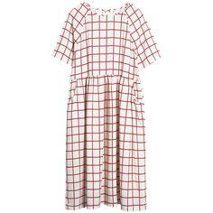 Print Midi T-Shirt Smock Dress Square (5.135 RUB) ❤ liked on Polyvore featuring dresses, mixed print dress, white day dress, calf length dresses, white smock dress and pattern dress