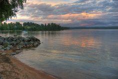 sunset over lake, Arjang, Varmland, Sweden by RobertZw, via Flickr
