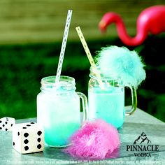 Nutty Big-Top 1 part Pinnacle® County Fair Cotton Vodka 1 part Calico Jack® Coconut Rum Splash DeKuyper® Blue Curaçao Liqueur Splash Half & Half Blend with ice and pour into a glass. Top it off with something fun!