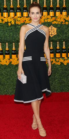 12 Celebrities Demo How to Wear a Knockout Little Black Dress - Camilla Belle  - from InStyle.com
