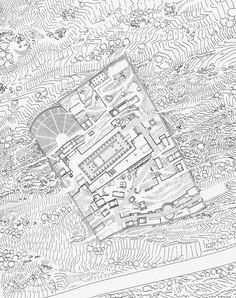The Sanctuary of Apollo, Site Plan, Delphi, ca. 400 B.C.