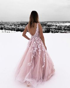 princess pink ball gown prom dresses, chic backless long prom dresses for teens, prettiest junior prom dresses with lace A-Line V-Neck Champagne Tulle Prom Dress with Beading Appliques Red Lace Prom Dress, Pretty Prom Dresses, Pink Prom Dresses, Plus Size Prom Dresses, Elegant Dresses, Sexy Dresses, Formal Dresses, Summer Dresses, Wedding Dresses