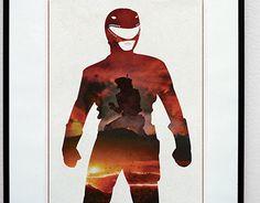 Tyrannosaur Power - Power Ranger Inspired Print Poster