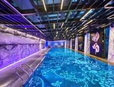 whotels:  Breaking in the new pool.Hello from W BEIJING -...