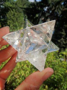 Brilliant Clear Quartz Merkaba Sacred Geometry Shape