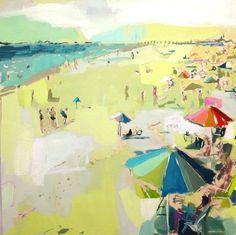 Beach - Art by Teil Duncan via Ritzy Bee Blog #art #painting