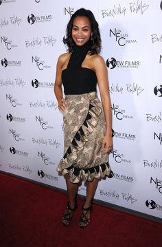 The beautiful Zoe Saldana