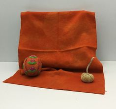 Spiced Pumpkin Hand Dyed Wool for Rug Hooking by OlympicWoolWorks