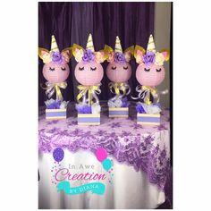 Estoy deseando crear temor algunos centros de mesa para su evento especial. TAMBIÉN DISPONIBLES PARA BABY SHOWER - REGALOS DE CHUPETE Y BOTELLA https://www.etsy.com/listing/565171028/12-unicorn-baby-shower-bottle-andor?ref=shop_home_active_1 Ideal para fiesta de cumpleaños