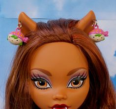 "Doll Jewelry, Kawaii Doll Earrings, Girl Charm Earrings, 12"" 16"" 17"" Doll Earrings, Ever After Earrings, Bratz Earrings, BJD Earrings by FAIRLYGHOULISH on Etsy"
