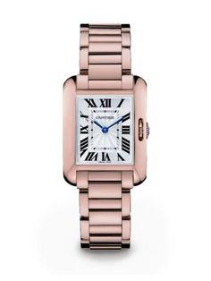 Cartier Tank Anglaise Small 18K Pink Gold Bracelet Watch