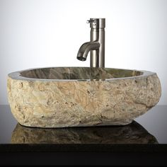 Liepa Natural Stone Vessel Sink - Vessel Sinks - Bathroom Sinks - Bathroom
