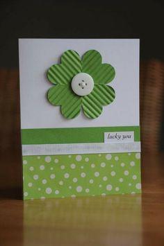 Lucky Shamrock Card for St Patricks Day, DIY St. Patrick's Day tags, St. Patrick's Day decoration ideas, St Patrick's Day craft ideas