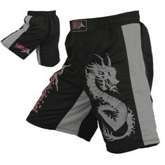 """Mrx MMA Fight Shorts Stretch Penals Black/Grey (Black/Grey, Medium (30.5""""- 31.5"""")) by MRX. $24.99. MMA Shorts / Grappling Shorts Made Of 100% Taslan Fabric With Stretch Panels Constructed Shorts Feature A Large Dragon Snake Printed On The Left Leg And MRX Logo On The Right Leg. The Black-Trimmed Waistband With Woven MRX Logo On The Front, Has Hook/Loop Closure Plus An Internal Drawstring To Reduce Shifting."""