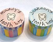 What kid wouldn't love to have a personalized tooth box for the tooth fairy?