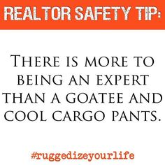 #realtorsafety #tipoftheday There is more to being an expert than a goatee and cool cargo pants. #realestatesafety #personalsecurity #executiveprotection #realtor #firearms #kungfu #ninja #realestate #sellinghomes #sellinghouses #realtorlife #realtormom #realestatelife #realestateagent #realestatebroker #realtors #pepperspray #safetyapp #safetytip #ruggedizeyourlife #firehill6 #veteranowned