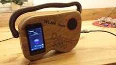 Holz Wlan Radio  selbstgebauter holzradio wlan radio