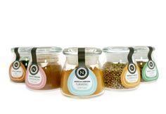 Nigella Lawson Comfort Spices on Behance Spices Packaging, Dessert Packaging, Brand Packaging, Spice Bottles, Bottles And Jars, Nigella Kitchen, Nutty Bars, Spice Shop, Nigella Lawson
