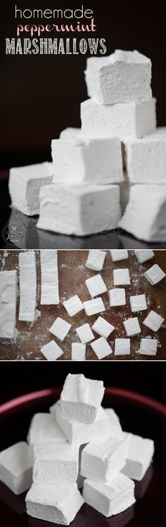 Homemade Peppermint Marshmallows are easy and fun to make, are an outstanding addition to hot chocolate, and you can gift them as a holiday treat.