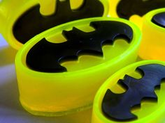Neon Batman Soap Party Favors  by BlueMoonBubbles on Etsy, $7.50