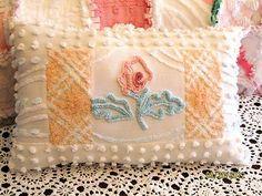 vintage chenille pillow