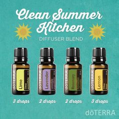 This looks great. Bring on the sun! Essential oil blend for clean summer kitchens.
