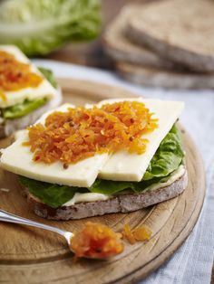 Tracklements Bengal Carrot Pickle & Wensleydale Sandwich