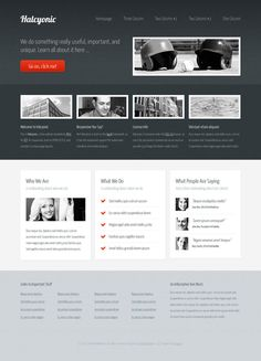 Halcyonic (free HTML5/CSS3 template) by ~nodethirtythree #webdesign #trends