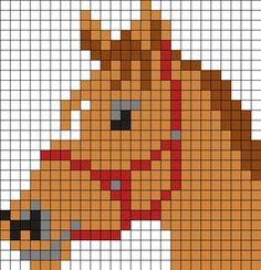 Horse Head Perler Bead Pattern / Bead Sprite