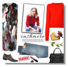 """Cozy Cashmere Sweaters"" by sarah-crotty ❤ liked on Polyvore featuring Equipment, Liska, Kate Spade, Citizens of Humanity, Chanel and cashmere"