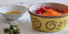 Beetroot & Carrot Salad with a Ginger dressing (Raw) -