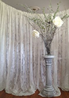 21 ft Lace Wedding Backdrop, Ready to Ship Lace Backdrop, Rustic Wedding Decor, Vintage Wedding Decor on Etsy, $128.00