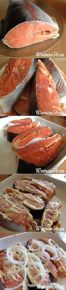 Красная рыба запеченная в духовке