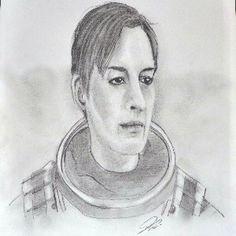 Interstellar un ritratto a matita di Anne Hathaway