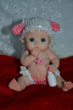 June by Yulia Shaver Original Art OOAK (One Of A Kind) polymer clay baby girl doll 3 Reborn Babypuppen, Reborn Toddler Dolls, Reborn Dolls, Reborn Babies, Fairy Crafts, Doll Crafts, Clay Crafts, Tiny Dolls, Ooak Dolls