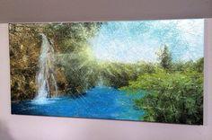 """Peacefulness"" (18"" by 30"" acrylic on canvas)"