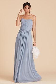 28b7a79a14a Chicky Convertible Dress - Dusty Blue Convertible Dress