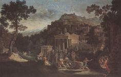 Karl Friedrich Schinkel: Antique City on a Mountain, c. 1805